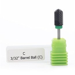Wholesale MAKARTT Professional High Quality White Black Under Nail File Drill Clean Bits Ceramic Machine For Nail quot Shank Size Barrel Ball F0598