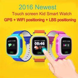 """Nouveaux écrans de téléphone à vendre-2017 Nouveau GPS Q90 GPS Positionnement Enfants Watch 1.22 """"écran tactile WIFI SOS Smart Watch"""