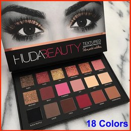 Wholesale New Arrival HUDA Beauty eyeshadow palette shimmer colors eye shadow Matte Eyeshadow Rose Gold Textured Eyes Makeup Cosmetics eyeshadow