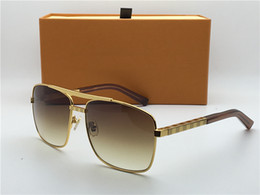 Z0259U The latest classic style plaid sunglasses lattice logo design exquisite plate metal square design lady men sunglasses UV400