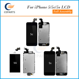 Grade A+++ LCD for iPhone 5 5S 5C LCD Display Touch Digitizer+Complete Screen+Home Button+Camera Full Assembly Replacement With DHL shipping