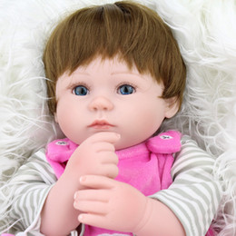 45cm Eye Opened Realistic Reborn Baby Doll Cloth Body with Soft Silicone Vinyl Newborn Baby Dolls Kids Child Gift Toy Nurse Mother Toys