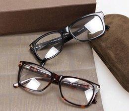 Wholesale 2016 Hot Eyeglasses Optical Glasses Frame Spectacles TOM Brand Myopia Frame Fashion Retro Italy Brand Optical Frame with Original Case
