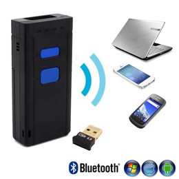 Wholesale Portable D Bluetooth Wireless Barcode Scanner Supports Windows Android iOS and Works with iPad iPhone Android Phones Tablets or Comput