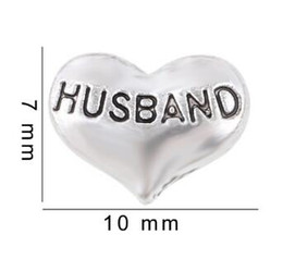 Wholesale 20PCS lot Husband DIY Alloy Heart Floating Locket Charms Fit For Glass Living Memory Locket