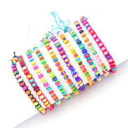 Fashion jewelry Weave rope string small beads friendship bracelets handmade charm Strand bracelets