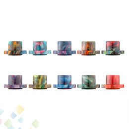 Cleito 120 Drip Tips Epoxy Resin Wide Bore Drip Tips Fit Cleito 120 Atomizer Tank High quality Mouthpiece E Cigarette DHL Free