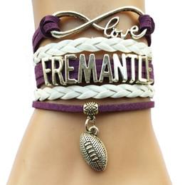 Wholesale Drop Shipping Infinity Love Fremantle Bracelet Customized AFL Australian Football League City Cheering Team Club Gifts