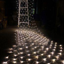 2016 rgb led net Gros 1.5M x 1.5M 108 LED Net String Fairy Light 110V 220V UE US Plug RGB Noël Mariage Fête Holiday Outdoor Décoration Lampe rgb led net ventes