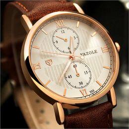 Glowing men's luxury top brand business men's clock quartz casual fashion leather quartz watch Relogios