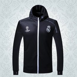 Wholesale 2016 The latest version of the madrid tracksuits Thailand quality pants training suits sweatsuits real jacket and pants With hat