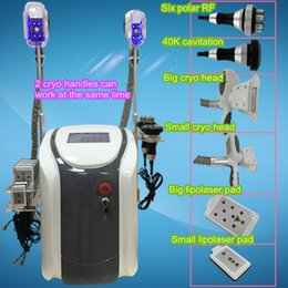 Wholesale velashape fat freezing cryolypolysis ultra cavitation rf lipo laser cryo fat machine paypal with user manual facial equipment