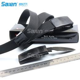 Cinturones de cuero en venta-Cuchillos del cuchillo de la pretina del cuchillo de la correa de cuero del MASTER al aire libre Envío libre