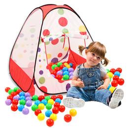 Cabrito casa tienda de campaña en venta-Los niños al por mayor-Portátil Kids Play Tents Playhouse plegable interior de jardín al aire libre Toy Tent Castle Pop Up House Multi-función de regalo
