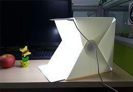 Wholesale Portable Mini Photo Studio Box Photography Backdrop LED Light Accessories light room Photo Studio Box