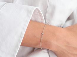 Superfine imitation diamond hand chain 925 Silver round cut zircon
