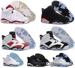 Wholesale Cheap Solid Real - Real retro Air 6 men basketball shoes online cheap sale perfect quality original sneakers US 8-13 free shipping WITH BOX