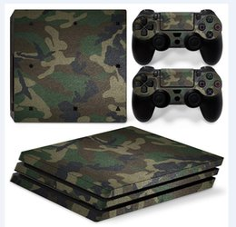 Camouflage Style Full Set Vinyl Skin Sticker Decor Decals for Sony PS4 Pro Console Skin + 2 PCS Controller Cover Skin Stickers