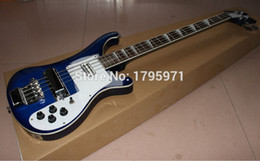 Wholesale China factory OEM strings Ricken Blue Color Electric Bass Guitar