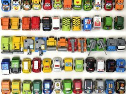 Wholesale 35pcs  lot Pull Back Mini Car Toys Children Racing Toys Mini Cars Police Fire Truck Figure size