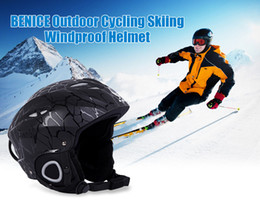 Wholesale BENICE Sports Safety Skiing Helmets With Inner Adjustable Buckle Liner Cushion Layer Colors PC Unisex Adult Skiing Helmet B