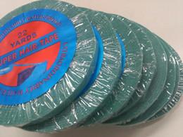 Descuento cintas de la peluca del pelo Alemania Cinta azul-1PCS-1cm * 22yard-Super pegamento fuerte / cinta adhesiva de doble cara para la extensión del pelo de la cinta que ata la cinta delantera de la peluca del cordón