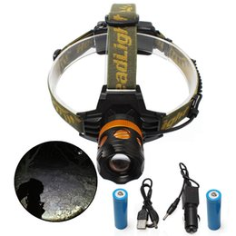 Rotate zoom1000 lumen T6 18650 Rechargeable Headlight LED Headlamp 2 LEDs white+Yellow Blue Fishing outdoor Up and down adjustment headlamp