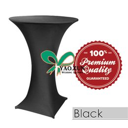 Black Color Lycra Spandex Table Cloth \ Cocktail Table Cover For Wedding Decoration
