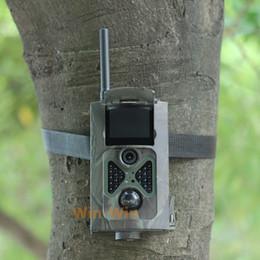 La caza cámara de exploración gsm en Línea-Venta al por mayor-HC500M HD 1080P 12MP cámara de rastreo GSM MMS GPRS SMS Control Scouting infrarrojos de caza de vida silvestre Cámara