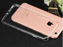 For iPhone 7 Soft TPU Ultra Thin 0.3mm Clear Iphone 6 6s Case Soft Transparent gel Case Note 5 Back Case Opp Bag
