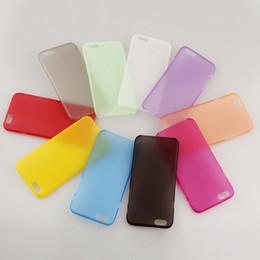 Promotion cas transparents pour iphone 4s 0,3 mm Slim Soft PC PP Case Matt Forsted Transparent Gel Housse pour iPhone 4S 5S SE 5C 6 6S 7 Plus Crystal Candy Color Back Skin