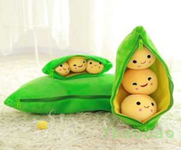 Wholesale 2016 new listing Pea beans horn pillow movie character animal soft plant Anime Comics toy lovely Warm Video Games toy