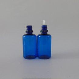 Acheter en ligne Bouteilles bleu cobalt gros-Flacon en plastique bleu 20ml 30ml 50ml pointe d'aiguille pointe de protection enfant pour bouteille d'encre de tatouage