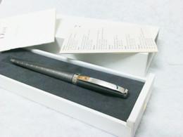2017 sistemas de la pluma de madera DR bolígrafo gris acero inoxidable cuadros de lujo pluma y una caja de madera blanca con un manual sistemas de la pluma de madera oferta