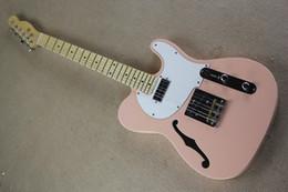 Jazz rosa en Línea-Guitarr eléctrico 914 del envío de la fábrica de la fábrica de la nueva de la calidad del color hueco rosado de encargo superior de calidad superior TL F del cuerpo