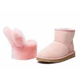 Wholesale DUEPLAY X Everugg Winter Snow boots ug Australian Women UGS Shoes Sheepskin Plush zapatos mujer Fur Warm Girls Rabbit s Bunny snowboots