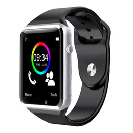 Wholesale Best A1 Smart Watch Bluetooth Smartwatch Phones Support SIM TF Card Smart Watches With Silicone Strap Smartphone VS GT08 DZ09 U8