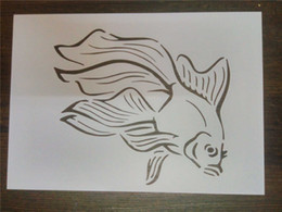 DIY white stencils for kids pattern design Masking template For Scrapbooking,cardmaking,painting,DIY cards,T-shirts-The goldfish