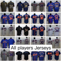 New York Mets All Jerseys Mike Piazza Noah Syndergaard Yoenis Cespedes Darryl Strawberry Dwight Gooden Darryl Strawberry AND MORE Jersey