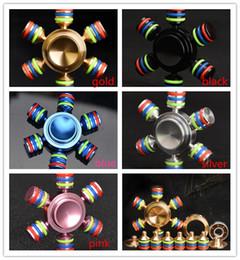 5 colors Brass Hexagonal Fidget Spinner Hexa-spinner EDS Anti-stress Rotation Metal Spinners Cooper Fidget Spinner Decompression Novelty Toy