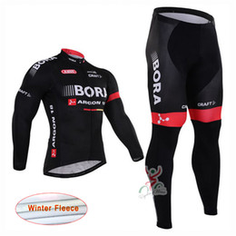 Compra Online Pro invierno baberos de ciclismo-Ropa ciclismo Bora Argon pro equipo de invierno de ciclismo de manga larga de manga termal velo de ropa de bicicletas (babero) conjunto de ropa de ciclismo D1301
