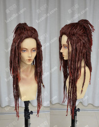 100% Brand New High Quality Fashion Picture full lace wigs>DMMD Mink  Minke Murder dreadlocks Red-brown mixed cos DRAMAtical wig