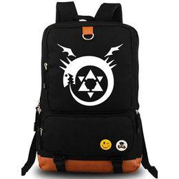 Wholesale Fullmetal Alchemist backpack Alchemy school bag Edward Elric daypack Cartoon schoolbag Outdoor rucksack Sport day pack