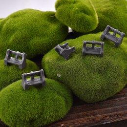 Wholesale 5 Micro Landscape Park Seat Garden Decoration Jardin Ornament Resin Mini Garden Ornament for