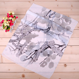 Women scarves wholesale new simple elegant ink printing chiffon cheap scarves high quality low price Factory direct sale