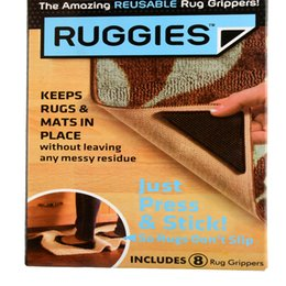 Wholesale Ruggies Rug Carpet Mat Grippers Non Slip Corners Pad Anti Skid Reusable Washable Silicone Useful Tidy