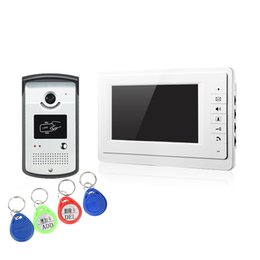 Wholesale XSL V70F ID wired video doorphone quot color screen and chord ringtone connect line camera color night vision