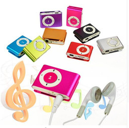 Wholesale 2016 New metal mini clip MP3 with micro TF SD slot with earphone and USB cable portable MP3 radio music players