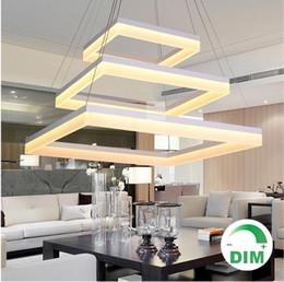 Modern Acrylic LED pendant lamp pc quadrate quadratus squarish Square LED pendant lamp LED hanging light