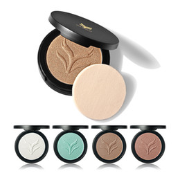 NEWEST HML Professional 4 Colors Face Highlighter Powder Palette Makeup Shimmer Highlight Make Up Powder Two Way Use Cosmestic Eye Shadow